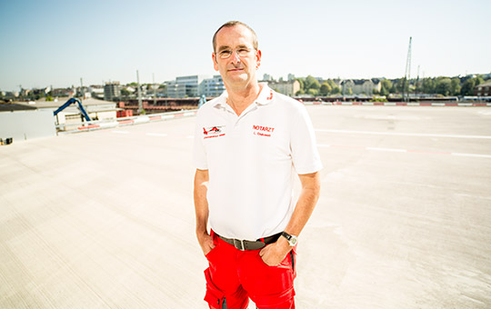 Dr. Lars Endruweit at St. John's Air Ambulance