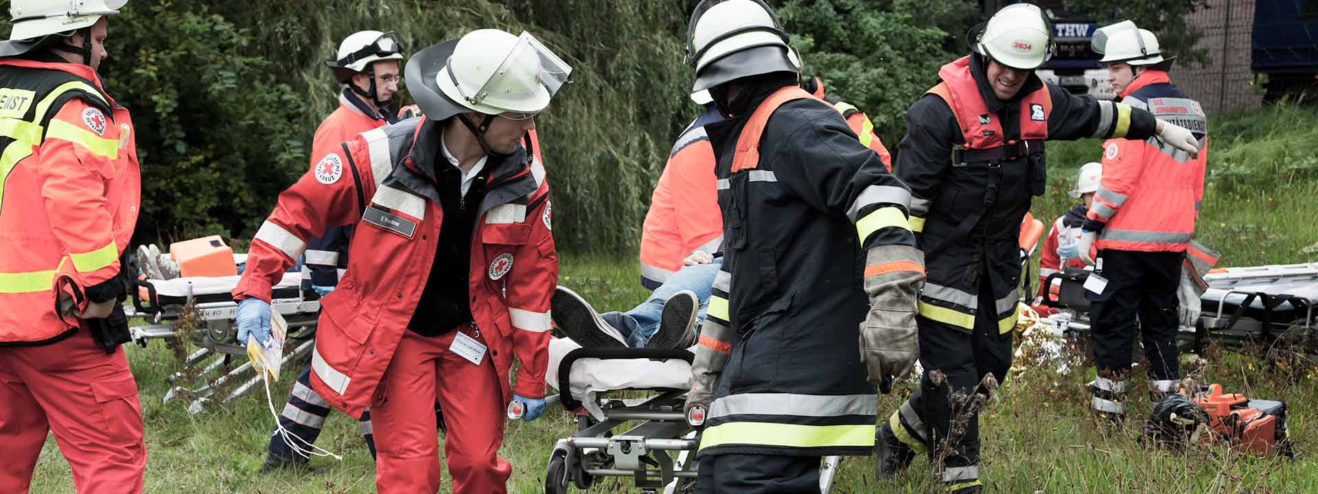 [Translate to Francais:] Civil protection organizations, aid agencies, volunteer fire services